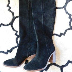 Madewell The Jimi Over The Knee Boot Black Suede